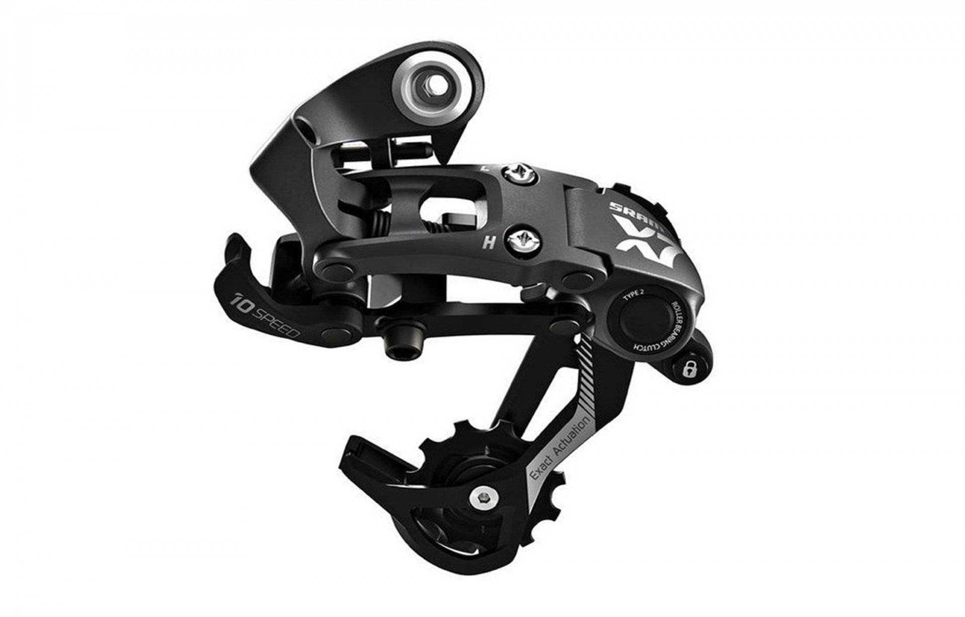 Переключатель задний, X7, 10 ск., 11 - 36, под петух, подвод - обратный, SRAM (черный, CRD209000089) фото