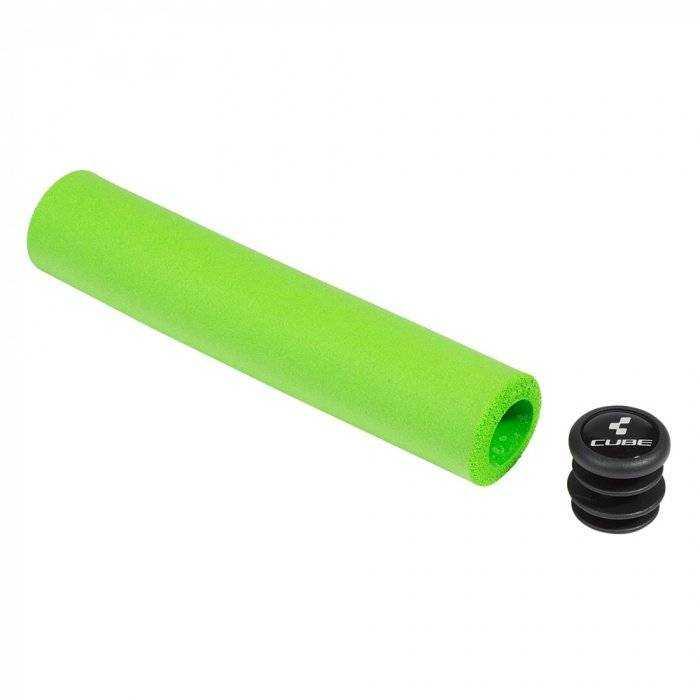 Рукоятки руля, Круглые (комплект), SCR Griffe, 22,2 мм, 130 мм/, 130 мм, CUBE (рукоятка - зеленый, RGCBSCRG0001) фото