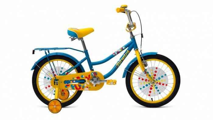Детский велосипед Forward FUNKY 18 (2019), Велосипед детскийFORWARD (18 1 ск.) 2018-2019, бирюзовый/красный мат., RBKW9LNH1012  - купить со скидкой