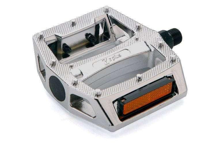 """Педали, (комплект), Платформенные, Z-0911, 100*110*28 мм, 9/16"""", Z plus (серебро, RPESLVZPL001)"""