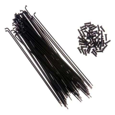 Спица, 45#, Постоянное сечение, 14G, 293 мм, C ниппелем, SHUN JIU (черный, 1SP414G29310)