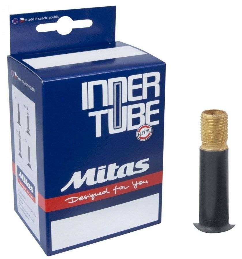 Купить Камера, A03 TAS, 700C * 25/35C, Бутил, Schrader (AV), 35 мм, Top antipuncture, Mitas, (AV), Mitas