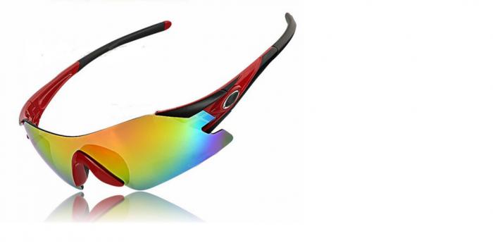 Очки велосипедные cо сменными серыми и желтыми лизами (черно-красный, VG 25 black/red) (Очки велосипедные cо сменными серыми и желтыми лизами (черно-красный, VG 25 black/red)) фото