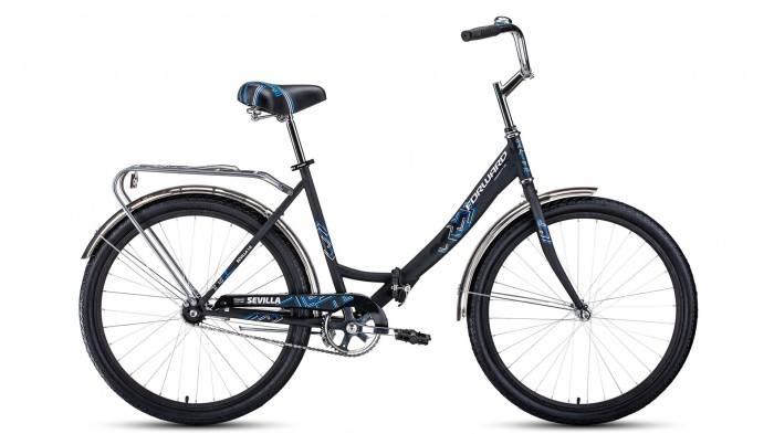 SEVILLA 26 1.0 (2020), Велосипед FORWARD (26 1 ск. рост 18.5 ) 2019-2020, черный/белый мат., RBKW0RN61002  - купить со скидкой