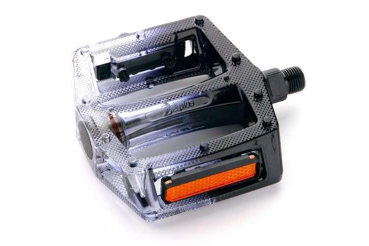 """Педали, (комплект), Платформенные, Z-0911, 100*110*28 мм, 9/16"""", Z plus (черный, RPEBKZPL0002)"""