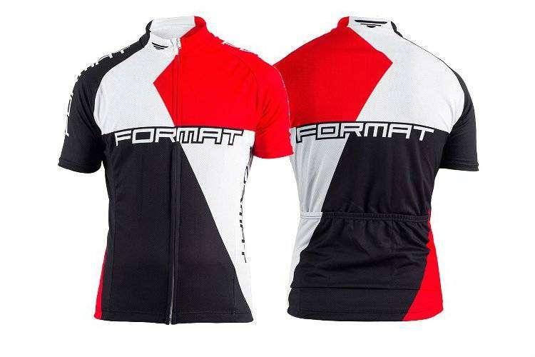 Джерси FORMAT короткий рукав (черный- красный- белый, S, RJRSFMTS0001) фото