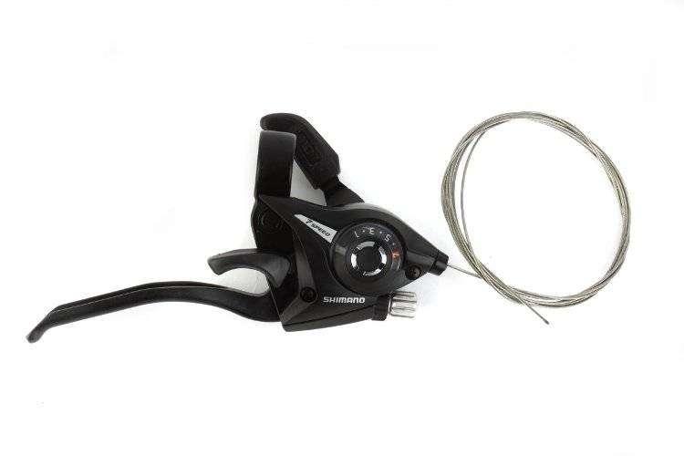Рукоятка переключения передач, правая, ST-EF51-7R, комбинированная, 7 ск., 22,2 мм, SHIMANO (черный, CSL300000072, (SHIMANO logo))