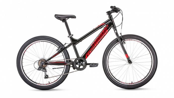 Горный велосипед хардтейл Forward TITAN 24 1.0 (2020), Велосипед детский FORWARD (24 6 ск. рост 13 ) 2019-2020, черный, RBKW01N46002  - купить со скидкой