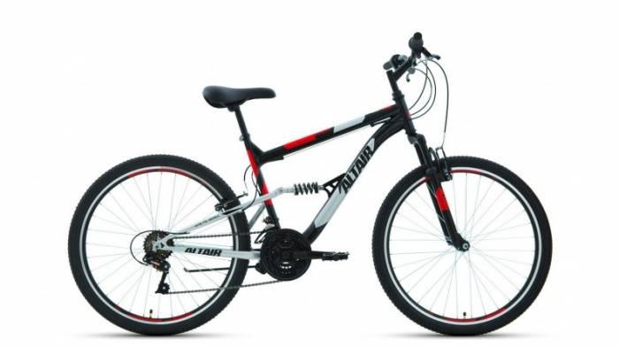 Двухподвес ALTAIR MTB FS 26 1.0 (2020), Велосипед (26 18 ск. рост 18 ) 2019-2020, черный/красный, RBKT0SN6P009  - купить со скидкой