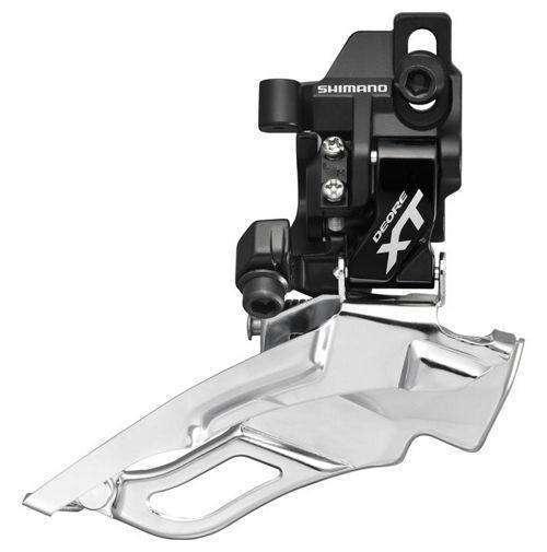 Купить Переключатель передний, M786, XT, 2/3 ск., Direct mount, Рамка - нижняя, Тяга универсальная, 44, S, SHIMANO