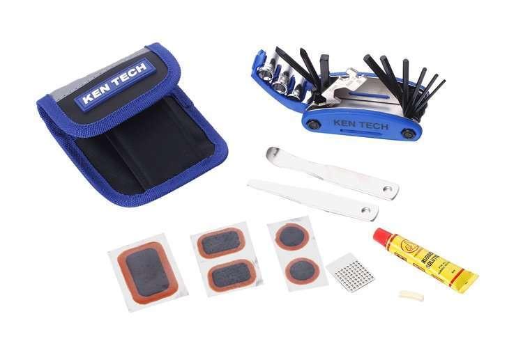 Набор инструментов, KL-9809B, Монтажки, Набор ключей, Аптечка, KENLI (RKLTL9809B01)
