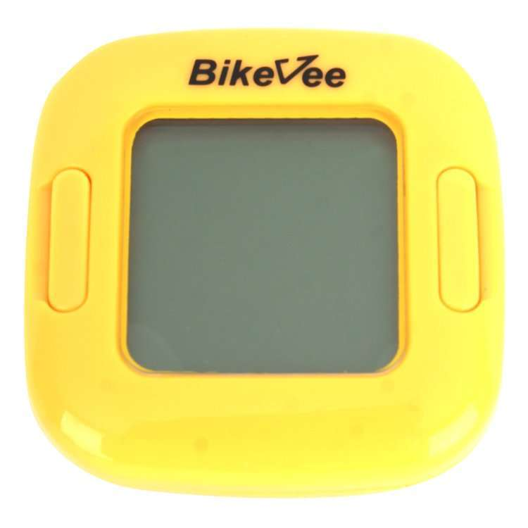 Велокомпьютер, проводной, BKV-2001, 13 функций, ч/б, C датчиком скорости, C подсветкой дисплея, Bike (желтый, 1CM000000037)