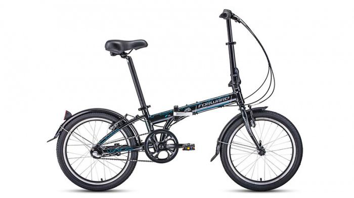 Складной велосипед Forward ENIGMA 20 3.0 (2020), Велосипед FORWARD (20 3 ск. рост 11 скл.) 2019-2020, черный/серый, RBKW0Y603002  - купить со скидкой