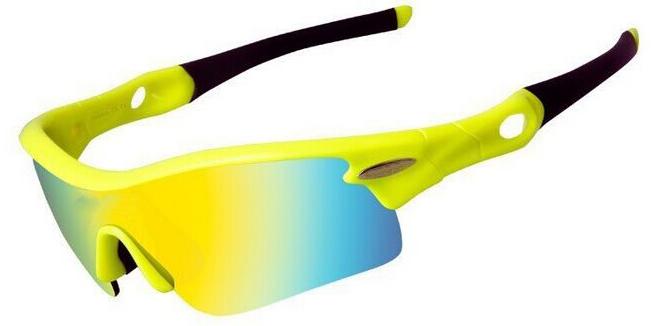 Очки велосипедные cо сменными серыми и голубыми линзами (желтый, VG 02 yellow) yellow, (желтый, yellow),  - купить со скидкой