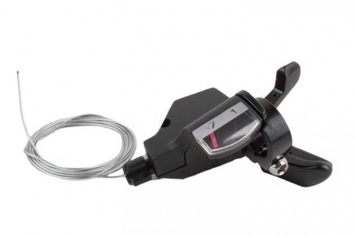 Рукоятка переключения передач, правая, SL-KD-30-R7, триггер, 7 ск., 22,2 мм, SUNRUN (черный, 1SL200000387) фото